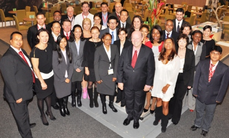The Seychelles delegation at the ITB trade fair