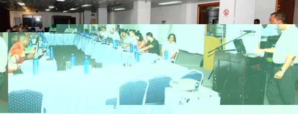 Mr Agricole addressing delegates at the workshop yesterday