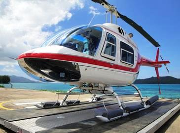 The new aircraft which will join the Helicopter Seychelles' fleet soon