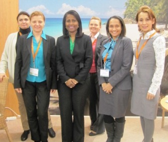 The Seychelles representatives at the 2012 MITT trade show