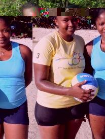 Women's winner Songoire and Biong