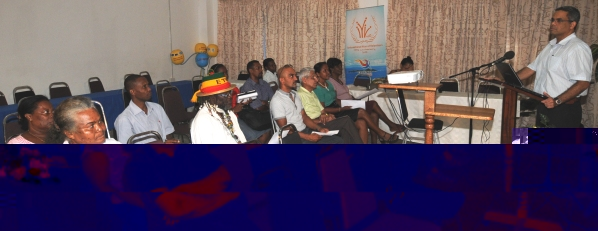 Mr Lalande addressing a consultative meeting this week