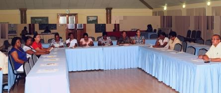 Delegates at the workshop