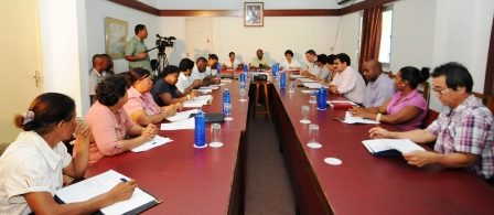 The steering committee during its first meeting yesterday