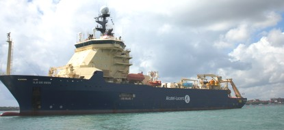 Ile de Sein, the ship which is laying the cable all the way from Dar es Salaam to Seychelles