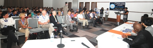 Minister Larue addressing delegates at the official launch of the congress yesterday