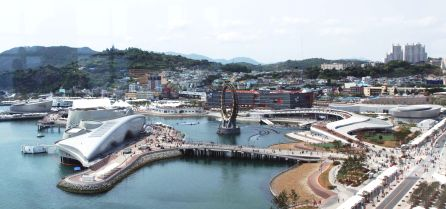 A view of Yeosu Expo from the Sky Tower