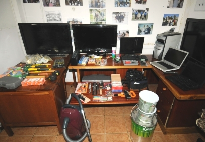 The stolen items that the police have seized