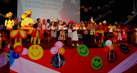 A group of children entertaining guests at yesterday's event