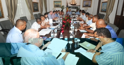Yesterday's economic council meeting in progress