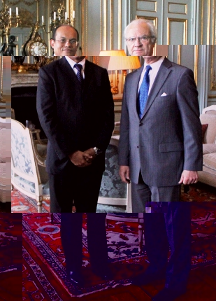 Dr Payet with King Carl Gustaf XVI of Sweden