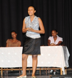 The team from the School of Business Studies and Accounting which came out third