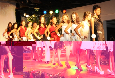 The contestants parading in their casual wear