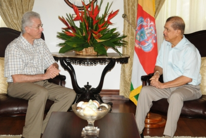 Mr d'Offay during his call on President Michel on Wednesday