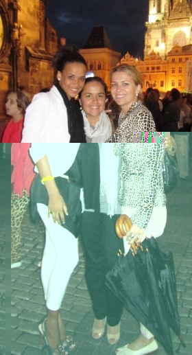 Seychelles beauty queen with Ms Houareau and Mrs Stefankova in Prague