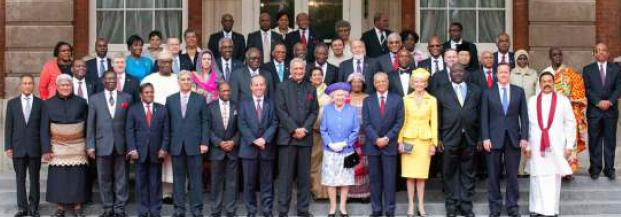 Mr Mancham in a group photograph with other dignitaries at the Queen's Diamond Jubilee celebrations
