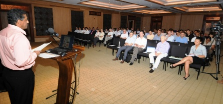 Vice-President Faure addressing delegates at the opening of the workshop yesterday