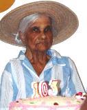 Madanm Benoit zour son 103enm lanniverser