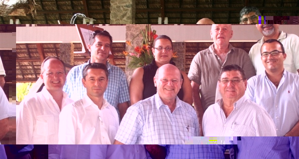 Members of SHTA's new board of directors with Minister St Ange