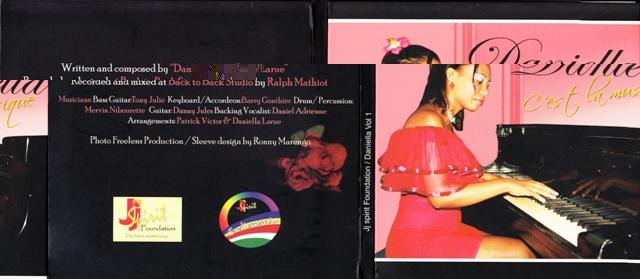 The front cover of Daniella's album