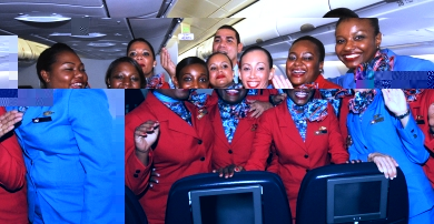 Air Seychelles cabin crew fill the cabin with the airline's signature Creole warmth