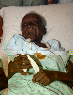 Mrs Pilate on the day of her 103rd birthday