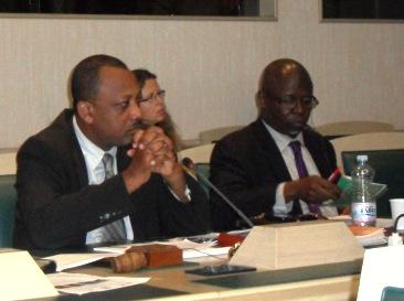 Le Ministre Sinon lors de la 30ème session du Comité des pêches