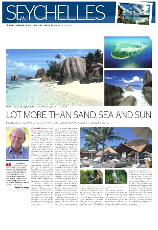 A segment of the story on Seychelles published in the Khaleej Times