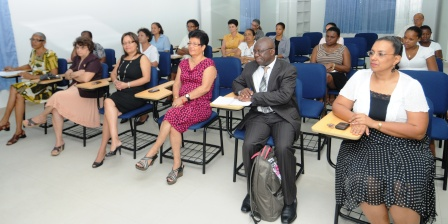 Dr Gedeon (photo left) addressing guests and delegates at the opening of the workshop Monday