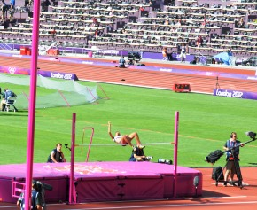 Labiche clearing the bar at 1.80m
