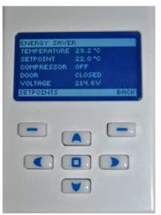 The energy-saving device is programmed using a machine with a simple interface