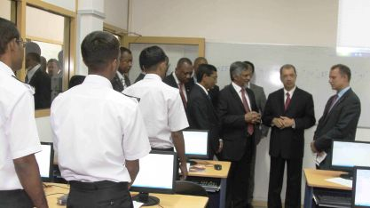 At the Colombo International Nautical and Engineering College