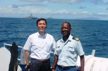Lt Col Adeline with Ambassador Takata