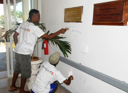 ... and painting at the North East Point rehabilitation centre