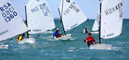 Seychellois Lebon (centre) in action in Dar es Salaam