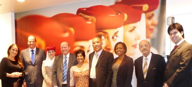 Minister St Ange, STB delegates and Emirates Airline representatives in a souvenir photo
