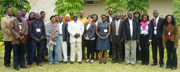 The doctors and journalists with Ecsa officials after mapping out strategies to highlight shortcomings through the media