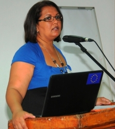 Colette Servina – a representative of the Red Cross Society of Seychelles