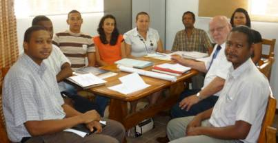 One of the working committees during a session