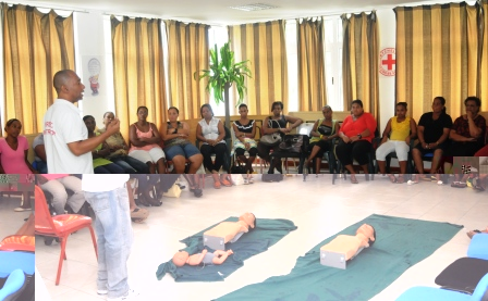 Child-minders and day care centre attendants attending the training session on Saturday