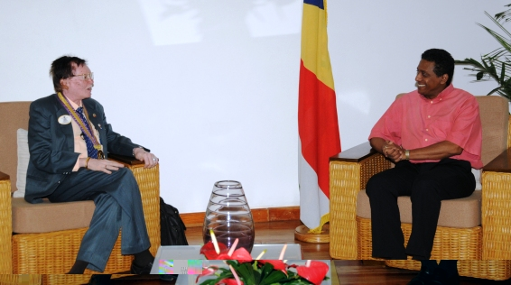 Dr Sheikh during his call on Vice-President Faure yesterday