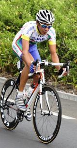 Edward Pothin,  le meilleur coureur seychellois du Tour de Maurice