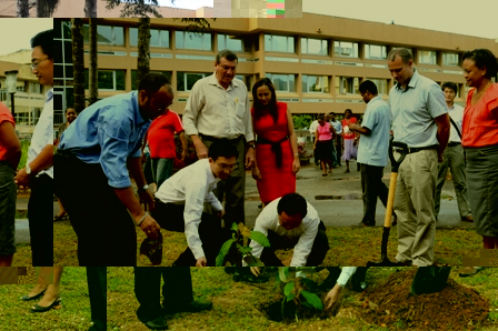 The tree-planting activity in full swing