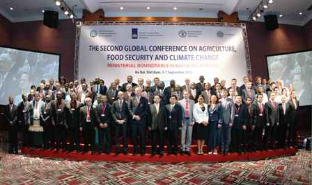 A group photograph of delegates at the conference