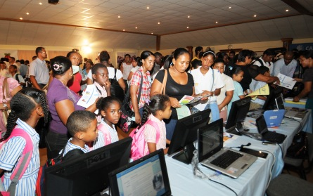 Visitors impressed with the new technologies on display