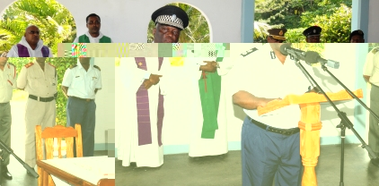 Mr Quatre addressing the gathering yesterday at the launch of activities to mark Police Day