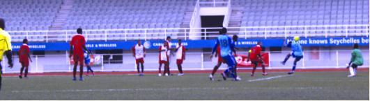 Malagasy Asman Todisoa heads home Dynamo's third goal