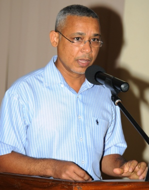 Mr Hoareau addressing delegates at the launch of the workshop on Thursday