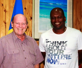 Jean-Marc Volcy and Minister Alain St Ange