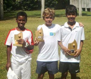 De gauche à droite : Shaun Andriamaro, Theo Barois et Damien Laporte